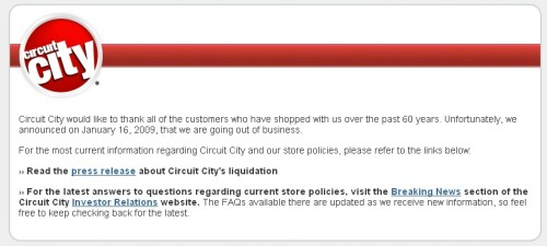 Circuit City Closed